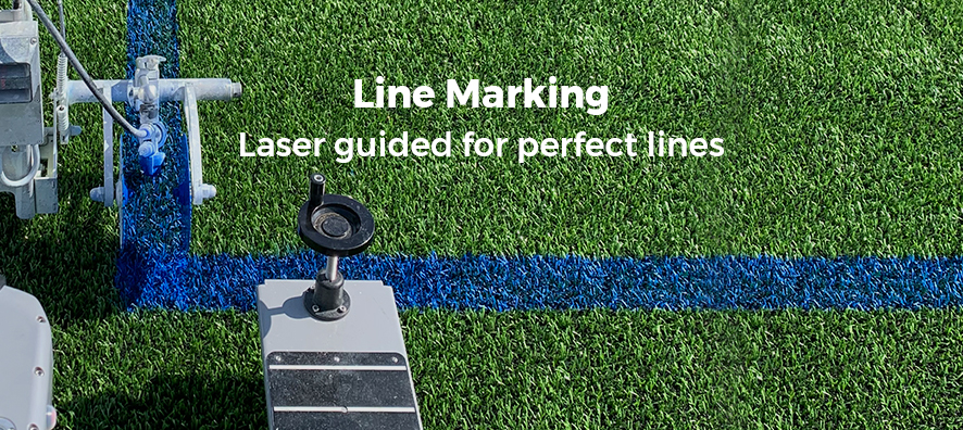 Line Marking. Laser guided for perfect lines.