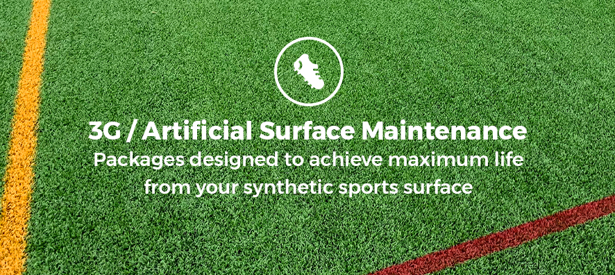 3G / Artificial Surface Maintenance. Packages designed to achieve maximum life from your synthetic sports surface.