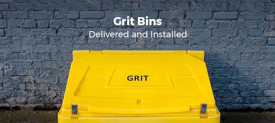 Grit Bins. Delivered and Installed.